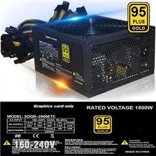 2018.New 2000W ATX Gold Mining Power Supply SATA IDE 8 GPU for ETH BTC Ethereum.