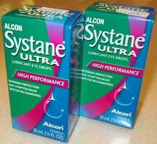 10 ml x 2 Alcon Systane Ultra Lubricant Eye Drops High Performance + Tracking