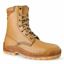 SIZE 8 JALLATTE JALOSBERN STEEL JJB21 TALL HIGH LACE UP JALASKA WORK TOE BOOTS