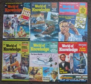 World of Knowledge Magazine No,1, 2, 3, 4, 8 & 17, All in Good Condition.