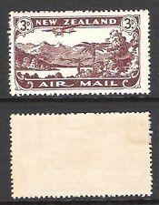 NEW ZEALAND 1931 3d CHOC AIRMAIL PERF 14x15 *RARE* (LHM)