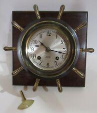 Chelsea Ships Wheel Bell Clock 8-Day, Time/Ships Bell Strike