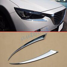 Accessories Head Light Cover For Mazda CX3 2016 CX-3 Headlight Eyelid Trim