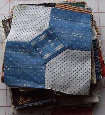 56 1870-1910 Bowtie quilt blocks, lovely variety of prints.set b