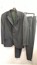 Vintage 70s William Mens Navy Blue Pinstripe Fall/Winter Weight Suit  42R 36x30