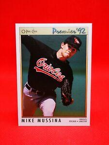 O-PEE-CHEE 1992 carte card Baseball MLB NM+/M Baltimore Orioles #87 Mike Mussina