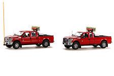 """Ford F250 Pickup - Oversize Load Escort Set - """"Red"""" - 1/50 - Sword #Sw1300R"""