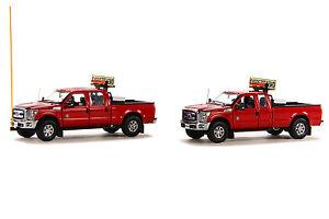 "Ford F250 Pickup - Oversize Load Escort Set - ""RED"" - 1/50 - Sword #SW1300RC"