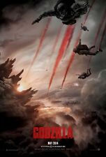 Godzilla (2014) DOUBLE SIDED ORIGINAL MOVIE Film POSTER Advance 1 Sheet Monster