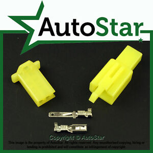 2 Way 2.8mm Mini Connector Kit YELLOW Motorbike Yamaha Motorcycle Pin Connectors