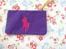 NUOVO ⭐ Ralph Lauren ⭐ THE BIG PONY VIOLA 4 Borsa Bag Pochette Trucco Vanity Cosmetico