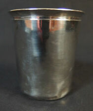 ancienne timbale argent massif 19e XIX / old antique solid silver goblet 19th