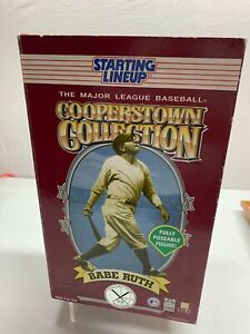 """1996 Starting Line Up Cooperstown Collection Babe Ruth 12"""" poseable figure NEW"""