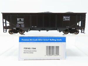 HO Scale Bachmann Silver Series 17644 B&M Boston & Maine 40' Quad Hopper #8900