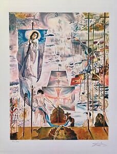 """Salvador Dali DISCOVERY OF AMERICA Facsimile Signed & Numbered Giclee Art 17x13"""""""