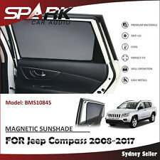 CT MAGNETIC CAR WINDOW SUN SHADE BLIND MESH REAR DOOR FOR Jeep Compass 2008-2017