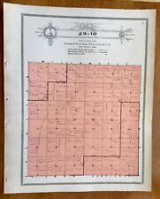New Listing1915 Plat Map Twnsp 29-10 Iowa precinct Holt County, Nebraska Genealogy Ancestry