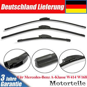 Scheibenwischer Komplett Set Für Mercedes-Benz A-Klasse W414 W168 vorne + hinten