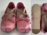 Miu Miu Iconic Ballet Dancing Flat Shoes Ballerinas Sandals Sandalen Schuhe 38