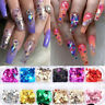 Nail Sequins Aluminum Irregular Flakes Nail Art Decoration Mirror Glitter Foil !