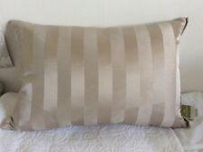 Schreiber Beige, Naturale a Righe Cuscino di seta-Piuma riempito - 60x40cm NUOVO CON ETICHETTA