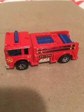 1976 Hot Wheels Red Emergency #51 Fire-Eater Engine Truck 1:64 Malaysia (Mint)