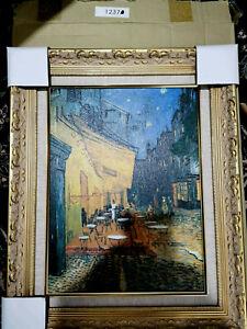 Vincent van Gogh Cafe Terrace at Night Framed