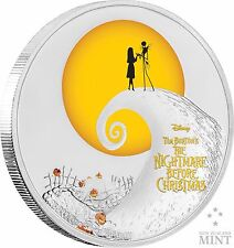 TIM BURTON - DISNEY -  THE NIGHTMARE BEFORE CHRISTMAS - 1 OZ SILVER COIN