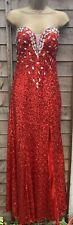 GK Grace Karin Red Sequin Ball Prom Long Evening Dress Gown UK 14 Eu 40 Party