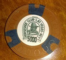 Binions Horseshoe Obsolete $5000 horseshoe mold casino chip