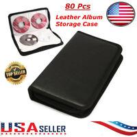 Disc CD DVD Organizer Holder Storage Case Bag Wallet Album Media Video 80 Pcs