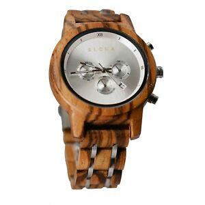 Montre en bois Femme Eloua luxe chronographe cadeaux