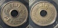 Fiji 1965 Penny 1D PCGS MS65 GEM UNC