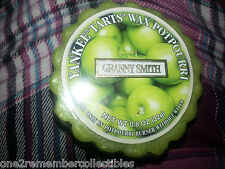 Set of 3 YANKEE CANDLE Granny Smith Apples TART MELT .8oz Retired WAX POTPOURRI