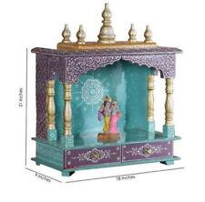 Wooden Handcrafted Home Mandir Pooja Ghar Mandapam Worship Hindu Temple KI-082