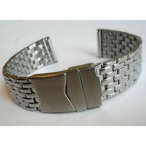 WATCH BRACELET STAINLESS STEEL 20 or 22mm Quality Band Strap Replacement New UK