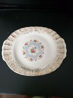 VINTAGE LIMOGES LYRIC 1 KS 384 X WARRANTED 22 K GOLD OVAL SERVING PLATTER