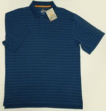 NWT Field & Stream Polo Modal Large Nautical Blue Striped Textured Casual Office