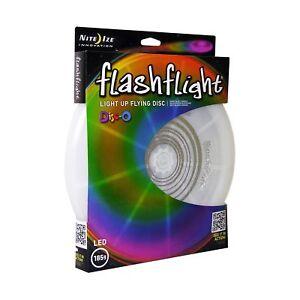 Nite Ize Flashflight LED Light-Up Flying Disc Disco Ultimate Glow Frisbee 185g