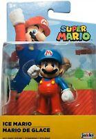 "World of Nintendo Ice Mario 2.5"" Super Mario Figure Jakks Pacific Wave 20- New"