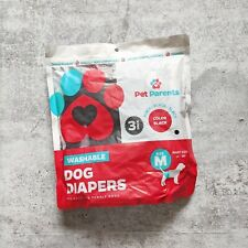 """2-PK PET PARENTS Reusable Diapers for MEDIUM Male and Female Dogs (14-20"""" waist)"""