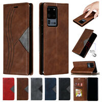 For Samsung Galaxy Note 20 Ultra Note 20 Case Card Slot Leather Stand Flip Cover