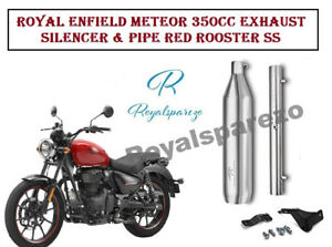 Royal Enfield Meteor 350cc Exhaust Silencer & Pipe Red Rooster SS