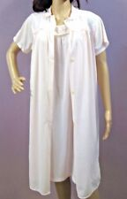 Vintage Philmaid Nightgown & Robe Set 2 Piece Set Peignoir Pink Nylon 36/38