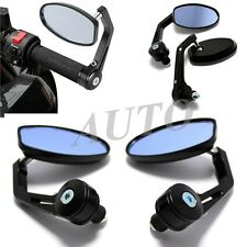 "BLACK MOTORCYCLE 7/8"" HANDLE BAR END MIRROR FOR DUCATI MONSTER STREET FIGHTER Eq"