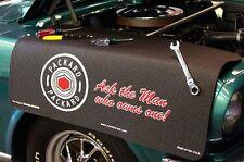 Black Packard luxury car mechanics fender cover paint protector vintage style