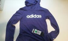 BRAND NEW ADIDAS GIRLS HOODIE SWEATSHIRT LIGHTWEIGHT SIZE 5 NWT PURPLE AA4404
