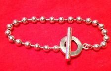 GUCCI Silber 925 Popcorn Kettenarmband Ball-Kette Italy Silver Toggle Bracelet
