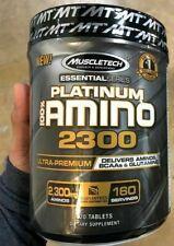 MuscleTech Platinum 100% AMINO 2300 Aminos BCAAs Glutamine 320 Tablets, 160 Serv