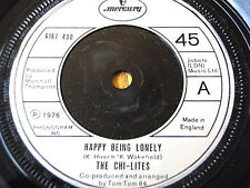 """THE CHI-LITES - HAPPY BEING LONELY  7"""" VINYL"""